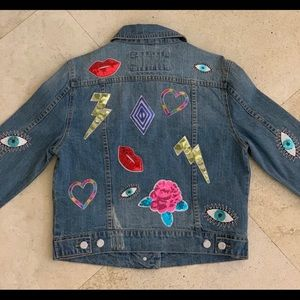 NWT embellished jean jacket